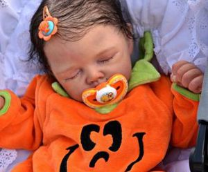 baby, doll, and Halloween image