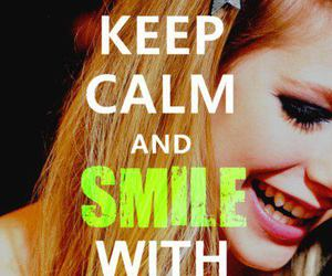 smile, Avril Lavigne, and keep calm image