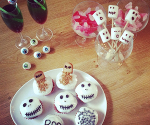 candies, cupcakes, and Halloween image