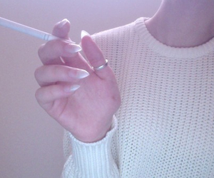 pale, cigarette, and grunge image