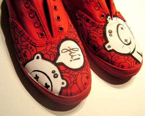 art, red, and shoes image