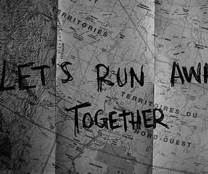 together, run, and map image