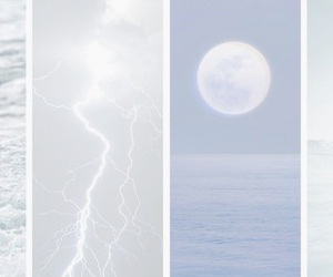moon, pale, and ocean image