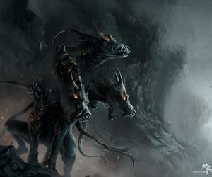hellhound and dog image