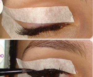cat eye, make up, and eyebrows image
