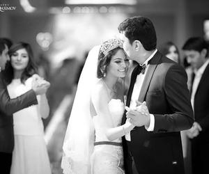 smile, wedding, and wedding dress image