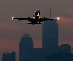 city, lights, and fly image