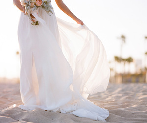 wedding, dress, and beach image