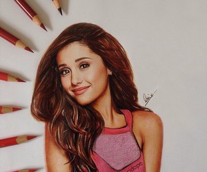 ariana grande, drawing, and art image