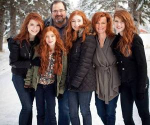 family, redhead, and winter image