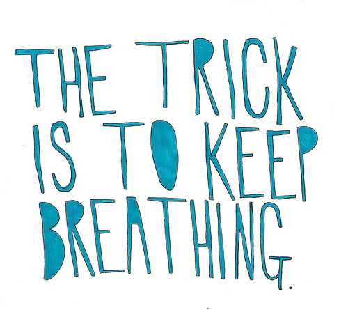 quote, breathing, and text image