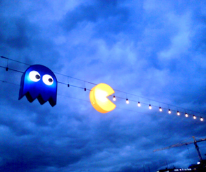 pacman, light, and Pac Man image