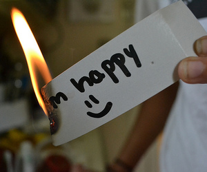 happy, fire, and text image