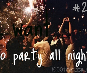 party and 1000 things i want image