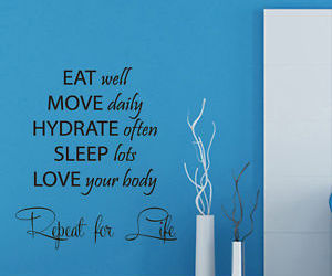 home decor, quote, and wall decals image