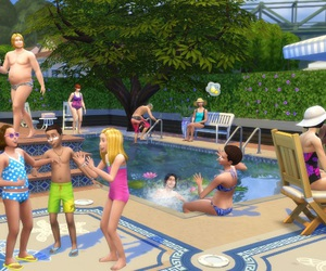 sims, the sims, and piscinas image