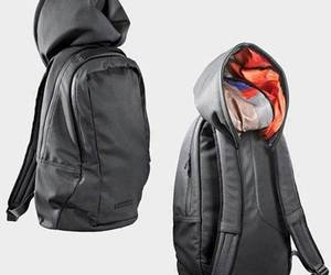 backpack, mochila, and capucha image