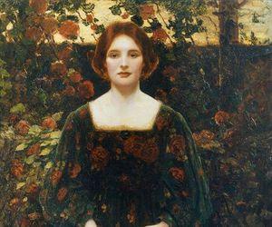 art, woman, and thomas edwin mostyn image