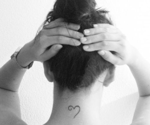 heart, simple, and tattoo image