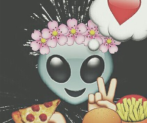 pizza, alien, and food image