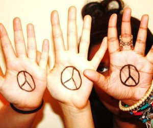 peace, photography, and peace sign image