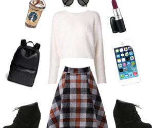 fashion, glasses, and lipstick image