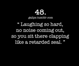 black and white, quote, and laughing image