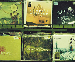 vampire weekend, cd, and iron and wine image