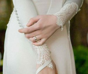 wedding, dress, and bella swan image