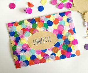 confetti, crafts, and diy image