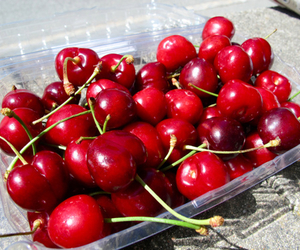 cherry, food, and delicious image