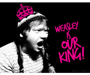 ron weasley and weasley is our king image