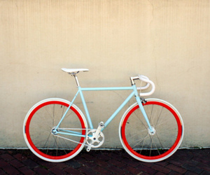 bike, blue, and photography image
