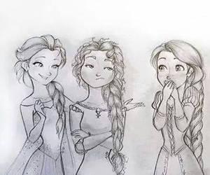 merida, rapunzel, and elsa image
