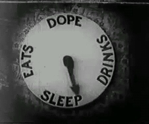 dope, drink, and sleep image