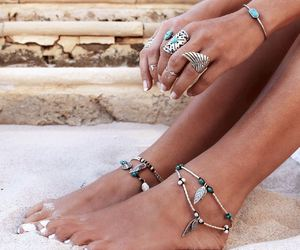 accessories, boho, and chic image