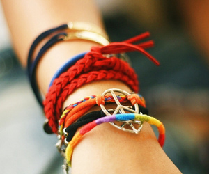 peace, bracelet, and colors image