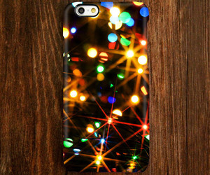 christmas lights, iphone 5 case, and iphone 5s case image