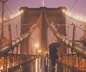 bridge and rain image