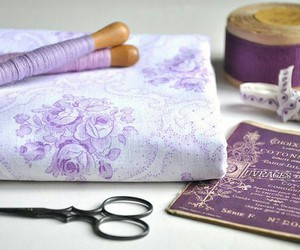 fabric, thread, and sewing image
