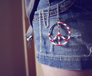 peace, usa, and jeans image