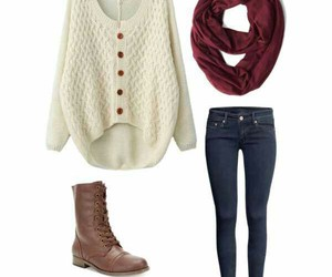 fall, outfit, and cute image