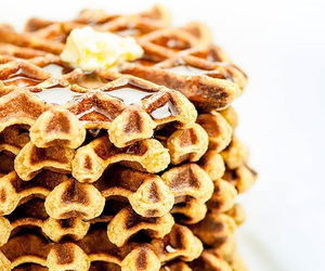 waffles, breakfast, and butter image