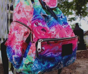 backpack, colorful, and tumblr image
