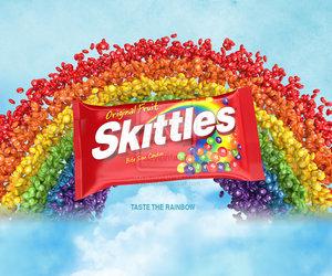 rainbow, food, and skittles image