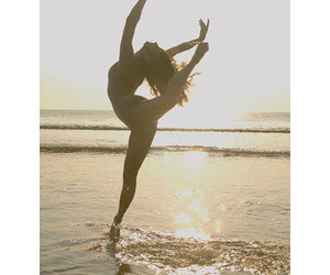 flexible, beach, and dance image