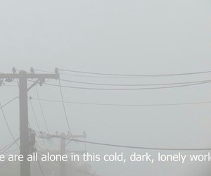 alone, lonely, and dark image
