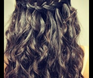 beautiful, curly, and hairstyle image