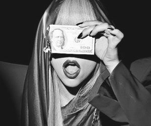 Lady gaga, money, and red image