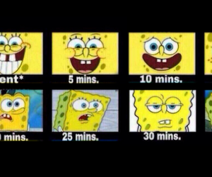 spongebob, waiting, and text image